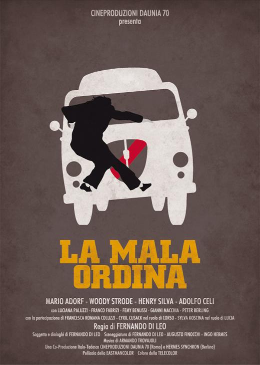 poster federico mancosu la mala ordina classic 2 vintage